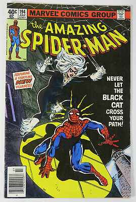 The Amazing Spider-Man # 194 Comic Vol 1 July 1979 Black Cat First Appearance
