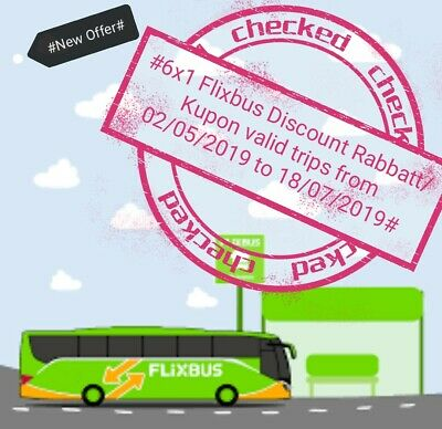 Ħ6x1Flixbus Coupon/Sconto/Kupon valid from 02/05 until 18/07 10% each