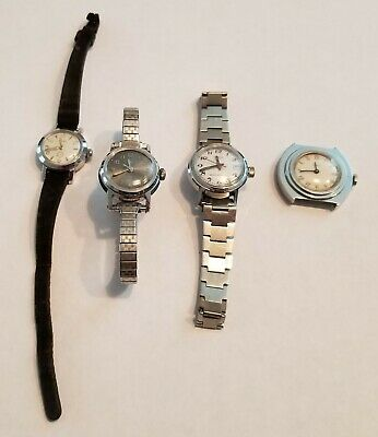 Vintage Timex Mechanical Wind Up Watches Working/Running With Defects