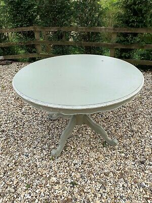 Beautiful Vintage Antique Shabby Chic French Country 120cm Round Dining Table