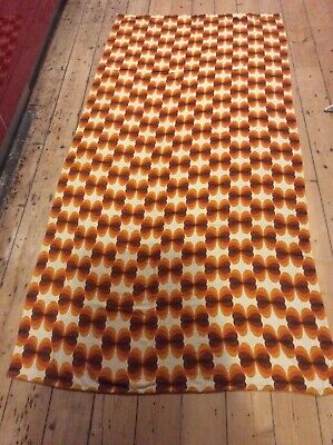 Pair 60s 70s Vintage German Fabric Curtains Panton Op Art Atomic Space Age