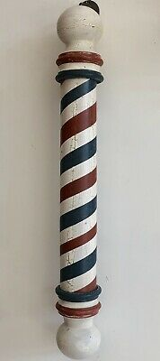 Wooden Barber Pole reproduction hand turned from Solid Poplar