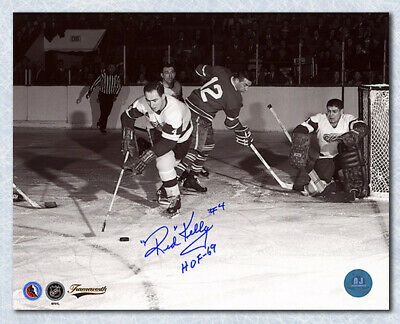 Red Kelly Detroit Red Wings Autographed Original Six Vintage Action 8x10 Photo