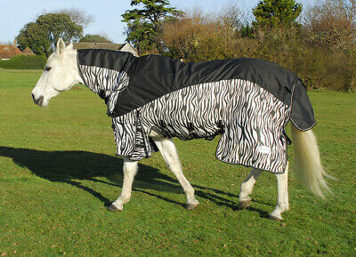 Rhinegold 2019 Masai 3 Full Neck Combined Fly Horse Rug With Waterproof Topline