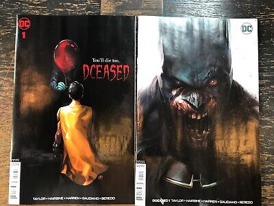 Dceased #1 Set Of 2 Comics Putri Horror, Mattina Variant Dc Zombies