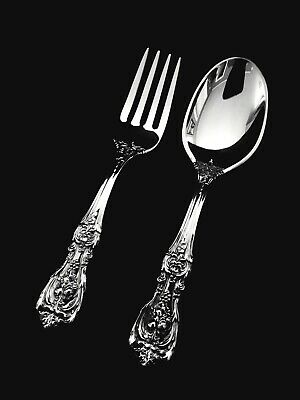 """Reed & Barton Sterling Silver Francis I  Baby Fork and Spoon Set 4 1/4"""" 👶 🎁"""
