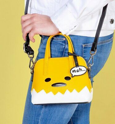 e4332db7d43a LOUNGEFLY X GUDETAMA Face The Lazy Egg Faux Leather Fanny Pack Waist ...