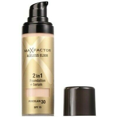 Max Factor Ageless Elixir 2-in-1 Foundation and Serum, 30 Porcelain