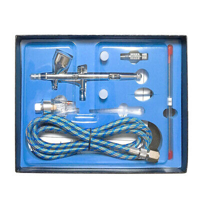KKmoon Professional Dual Action Gravity Feed Airbrush Kit with 1.8m Hose C1S7