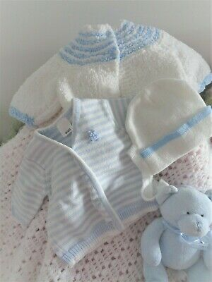 Sweet Vintage Knit Package For  Boy Reborn Doll Or Baby
