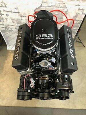 383 EFI STROKER CRATE ENGINE A/C AFR Head 508hp ROLLER TURNKEY PRO STREET CHEVY