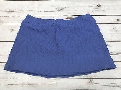 c3caf0c823a Lands' End Womens 8 Blue Texture SwimMini Swim Skirt Swimsuit Bottoms High  Waist