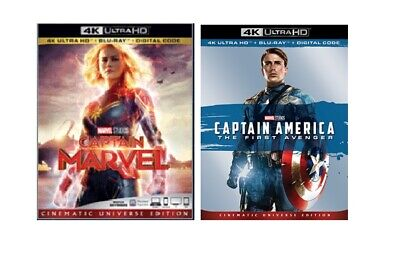 Captain Marvel &  Captain America 4k Ultra Hd Blu-Ray Digital Pre-Order
