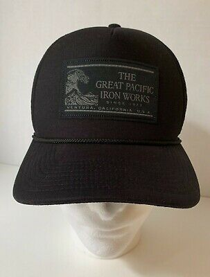 d8188a6dd8c74 Patagonia Great Pacific Iron Works Master Chief Hat - 2014 Black Heritage  Wave