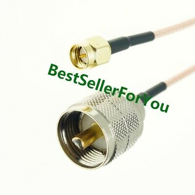 SMA Male to UHF PL259 pl-259 Male 50-Ohm RG316 Coax Low Loss Jumper RF Cable