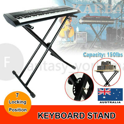 Music Piano  Keyboard Stand Height Adjustable Folding Holder Double Braced Type