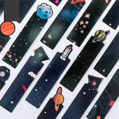 30pcs Planet Bookmark Starry Galaxy Sky Bookmark Paper Dividers Book Page Maker