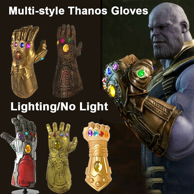 Avengers 3/4 Infinity War Infinity Gauntlet LED Light Thanos Gloves Cosplay Prop