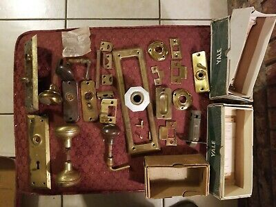 Lot Assorted Antique Vintage Hardware ~ Door Knobs, Locks, Salvaged Parts