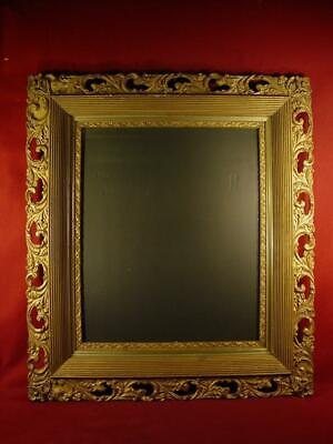 Giant Vintage Antique Victorian Ornate Carved Wood And Gesso Picture Frame