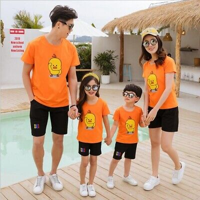 39642a188f Family Matching Outfits Mother Daughter Father Son Boy Girl Summer Clothes  Set