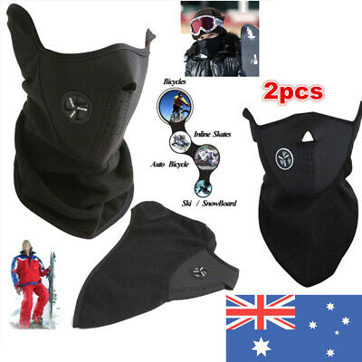 2pcs Winter Snow Face Mask Shield Mask Ski Snowboard Thermal Neck Tube Scarf