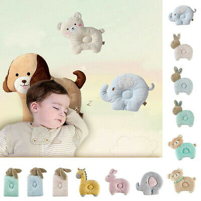 Newborn Cartoon Breathable Baby Anti-head Shape Pillow For 0-3 Years Old Baby AU