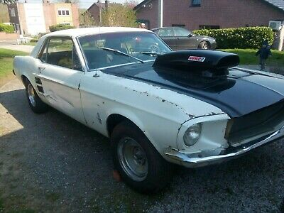 ford mustang 1967 blanche  boite manuel