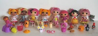 Lalaloopsy Lot Of 8 Silly Funhouse Mini Dolls W/ Accessories