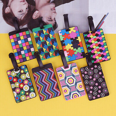 Colorful Suitcase Luggage Tag Identifier ID Label Business Card Holder Travel
