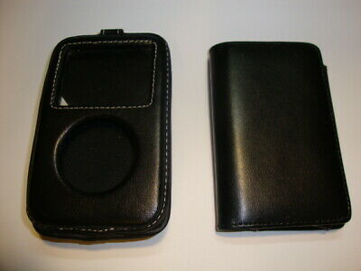 Lot of 2 Leather Cases Holder Protective Cover Protector For Apple iPod Classic
