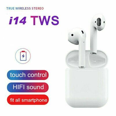 New Premium i14 TWS Bluetooth 5.0 Earphone Wireless Earbuds Smart Touch Control