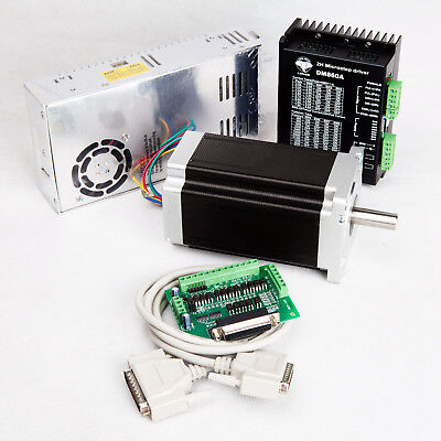 Free Ship 1Axis Nema 34 Stepper Motor 1232oz.in 5.6A&Step Driver DM860A LONGS