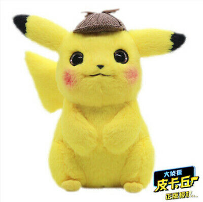 """Pokemon Detective Pikachu Plush Doll Stuffed Toy Movie Official Gift 11"""" A"""