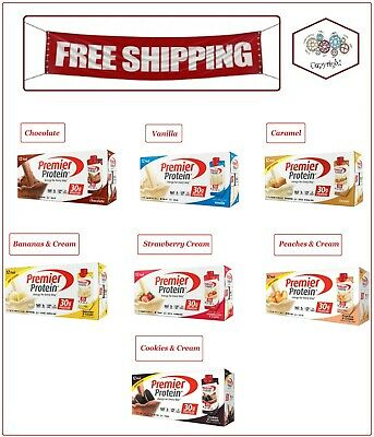 """Premier Protein High Protein Shake """"Available Seven Flavor """" 11 fl. oz., 12 Pack"""
