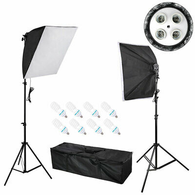 Photography Photo Studio Continuous Lighting Softbox Soft Box Light Stand Kit
