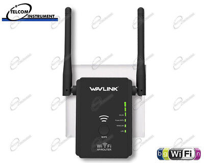 Range Extender WiFI Ripetitore Wireless con due Antenne e due LAN