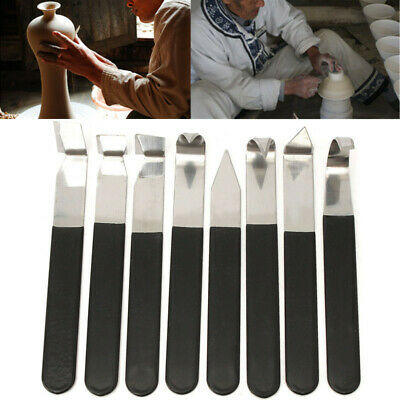 8Pcs Stainless Steel Pottery Wax Clay Carvers Carving Sculpture Hand Tools