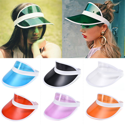 Summer PVC Hat Sun Visor Party Casual Hat Clear Plastic Adult Sunscreen Cap Cool