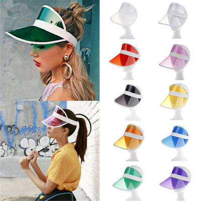 Summer PVC Hat Sun Visor Party Casual Hat Clear Plastic Adult Sunscreen Cap HS