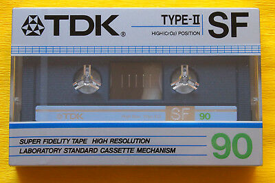 1x TDK SF 90 Cassette Tape 1985 + OVP + SEALED + MADE IN JAPAN + VERY RARE !! +