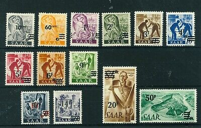Germany Saar 1947 French Currency overprinted full set of stamps. Mint.