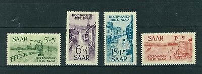 Germany Saar 1948 Charity for Flood Victims set of stamps. Mint. Sg 252 - 255.