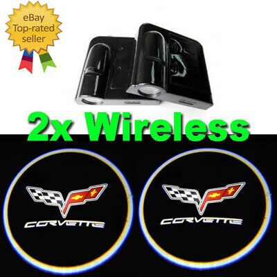 2 Wireless For Chevrolet LED Courtesy Car Logo Door Ghost Shadow Projector Light