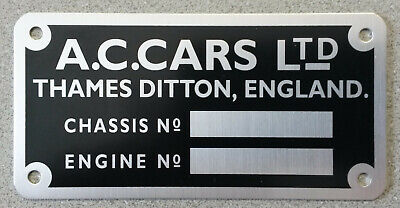 AC Cobra Chassis Platte Plate