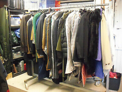 Galvanized  Heavy Duty Durable Garment|Clothes Display Rail Commercial Grade