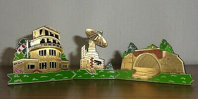 3x Geocoin Lost Places 4 The Kingz Tower + Radar + Shelter = Lost Skyline Summer