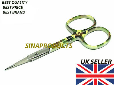 New Super Sharp Curved Edge Cuticle Nail Scissor Arrow Point Silver Steel