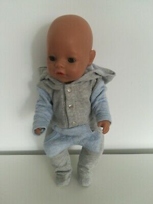 """16""""-17"""" baby doll clothes Girl Boy outfit jumpsuit sleepsuit baby born Anabel"""