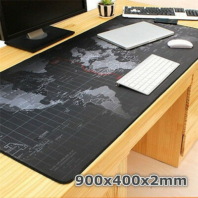 Large XL Size Anti-Slip World Map Speed Gaming Game Mouse Pad Mat for Laptop WH